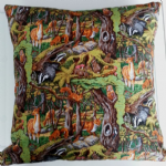 LARGE WOODLAND THEME CUSHION - Animals
